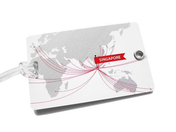 Route Map Luggage Tag - LOVE SG