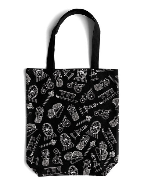 Scrambled Icons Canvas Bag - LOVE SG