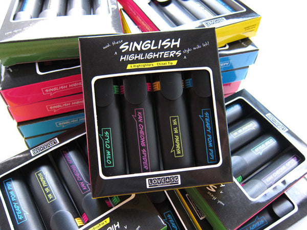 Singlish Highlighters Set - LOVE SG
