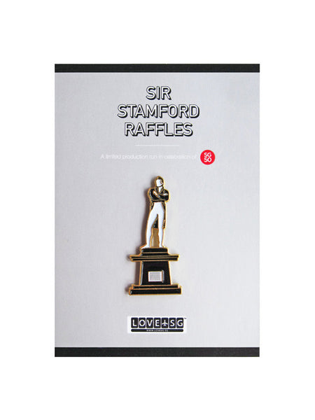 Sir Stamford Raffles Collar Pin - LOVE SG
