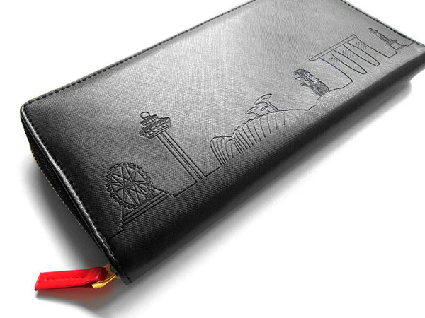 Skyline Outline Travel Wallet - LOVE SG