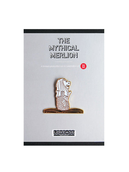 The Mythical Merlion Collar Pin - LOVE SG