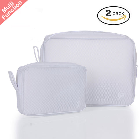 Multifunction Waterproof Zipper Pouches - Translucent Toiletry/Cosmetic/Makeup Bags