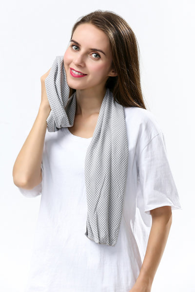 "Soft Instant Cooling Towel 2 Pack - Multifunctional 48"" Long Healthy Cool Scarf"