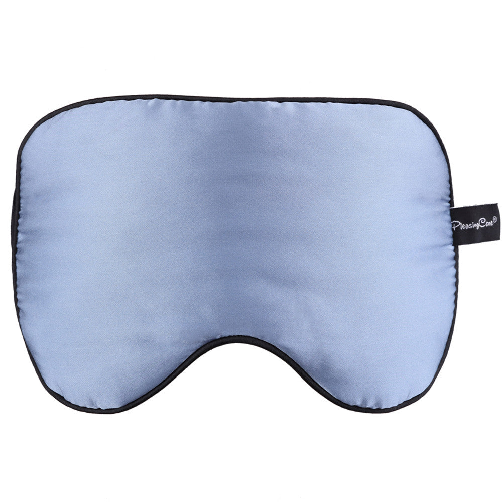 Natural 100% Silk Eye Mask with 2 Pair of Earplugs – Adjustable Sleeping Mask 2 Colors