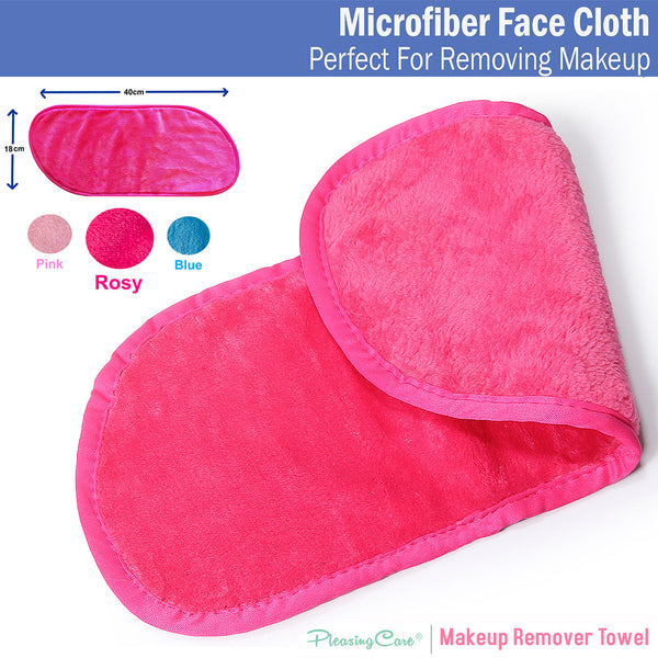 Makeup Remover Cloth Clean Towel, Reusable Facial Cleansing Towel - Chemical Free, Remove Makeup Instantly with Just Water Satisfaction Guaranty