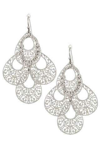 Teardrop Filigree Dangle Earring.