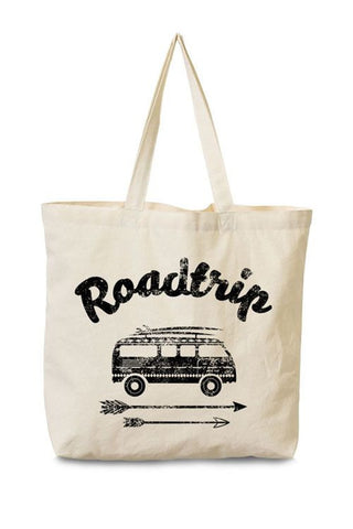 Roadtrip Canvas Tote Bag