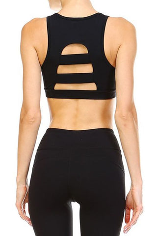 Black Ladder Back Sports Bra