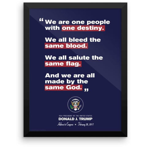 """Same Flag, Same God"" Trump Inaugural Framed Print"