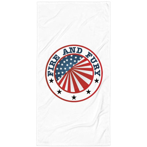"""Fire and Fury"" Luxury Beach Blanket"