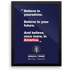 """Believe in America"" Trump Inaugural Framed Print"