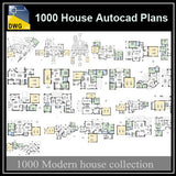1000 Types of House Autocad Plans (Best Recommanded!!)