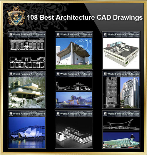 World Best Architecture CAD drawings