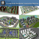 【10 Large-Scale Residential Construction and Landscape Sketchup Models】 (Recommanded!!)