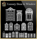 90 Types of Luxury Door & Window Design(Recommanded!!)