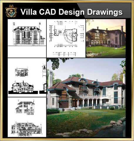 Villa Design CAD Drawings