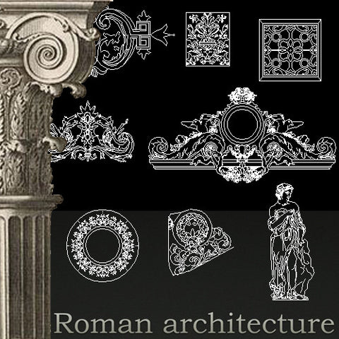 Free Classical Decoration Blocks