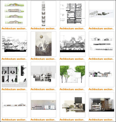 Architectural sections and elevations Gallery