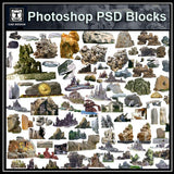Photoshop PSD Landscape Stone 1 - CAD Design | Download CAD Drawings | AutoCAD Blocks | AutoCAD Symbols | CAD Drawings | Architecture Details│Landscape Details | See more about AutoCAD, Cad Drawing and Architecture Details