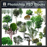Photoshop PSD Tree Blocks 2 - CAD Design | Download CAD Drawings | AutoCAD Blocks | AutoCAD Symbols | CAD Drawings | Architecture Details│Landscape Details | See more about AutoCAD, Cad Drawing and Architecture Details