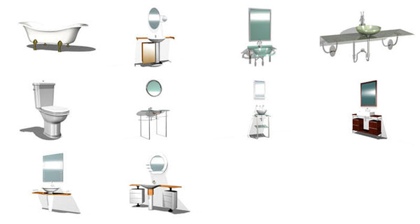 Bathroom 3D Cad Models - CAD Design | Free CAD Blocks ...