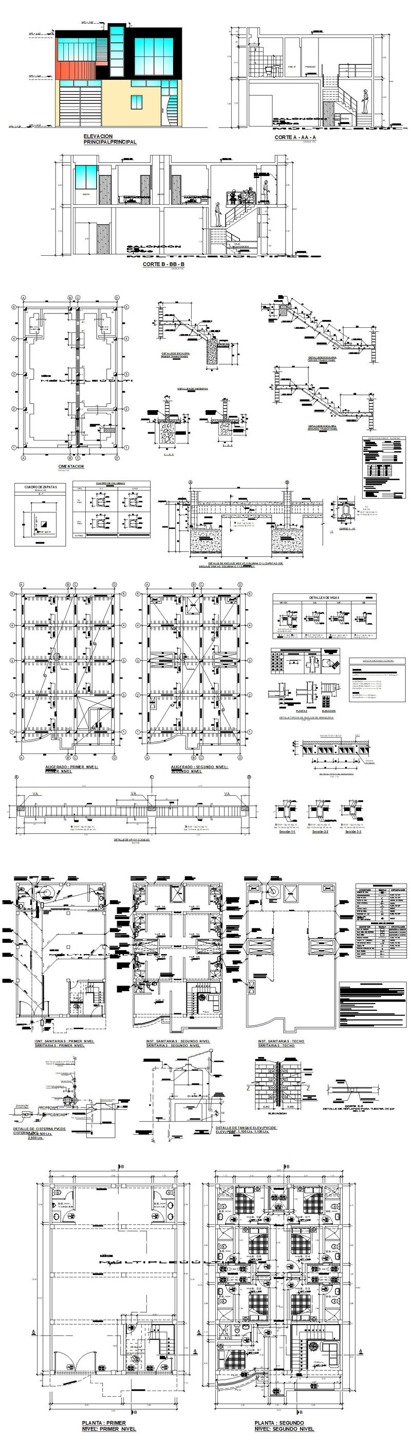 ★【School, University, College,Campus CAD Design Project V.4】@Autocad Blocks,Drawings,CAD Details,Elevation