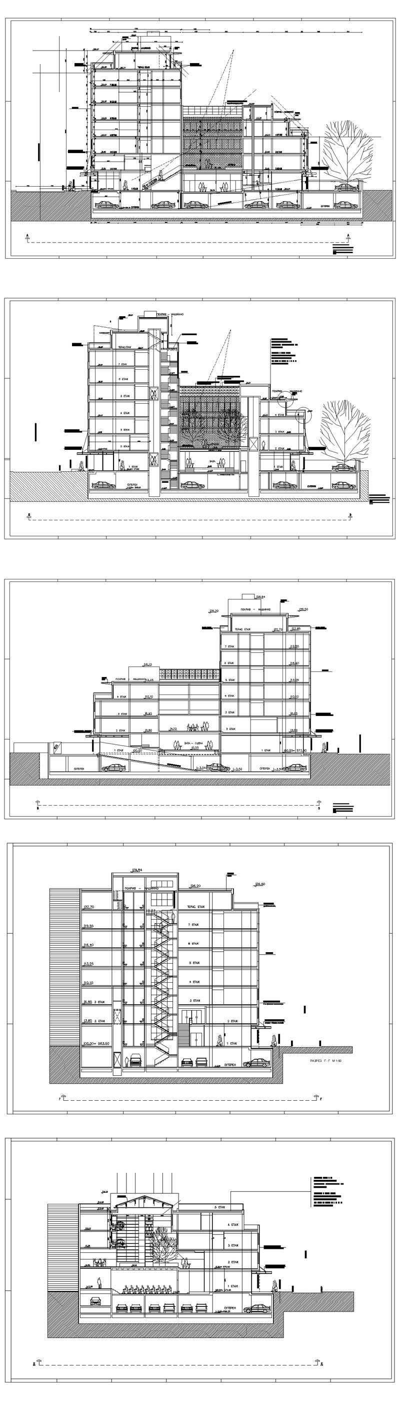 ★【Office, Commercial building, mixed business building CAD Design Project V.10】@Autocad Blocks,Drawings,CAD Details,Elevation