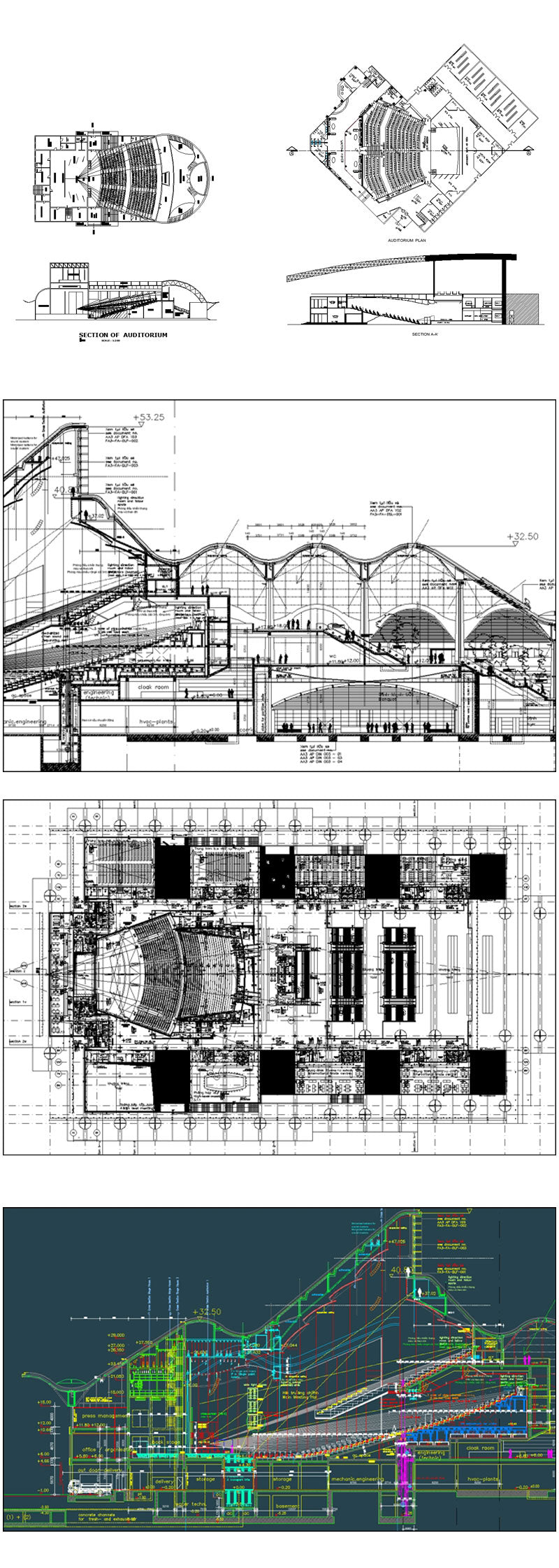★【Conference room CAD Details 】@Conference Room Design,Autocad Blocks,Cinema, Theaters Details,Cinema, Theaters Section,elevation design drawings