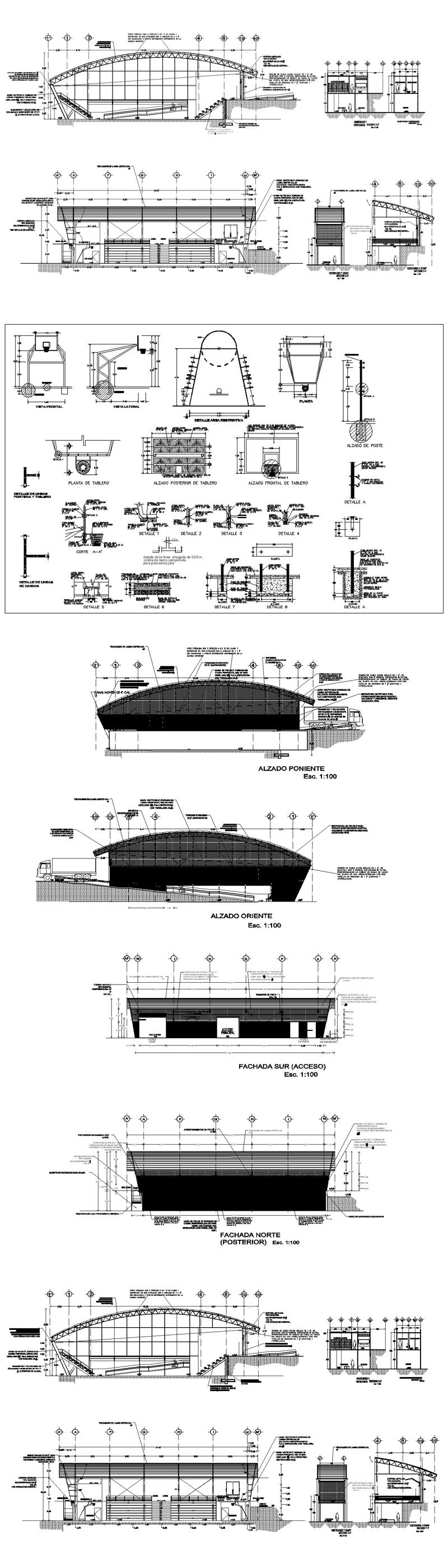 ★【Stadium,Gymnasium, Sports hall  Design Project V.2-CAD Drawings,CAD Details】@basketball court, tennis court, badminton court, long jump, high jump ,CAD Blocks,Autocad Blocks,Drawings,CAD Details
