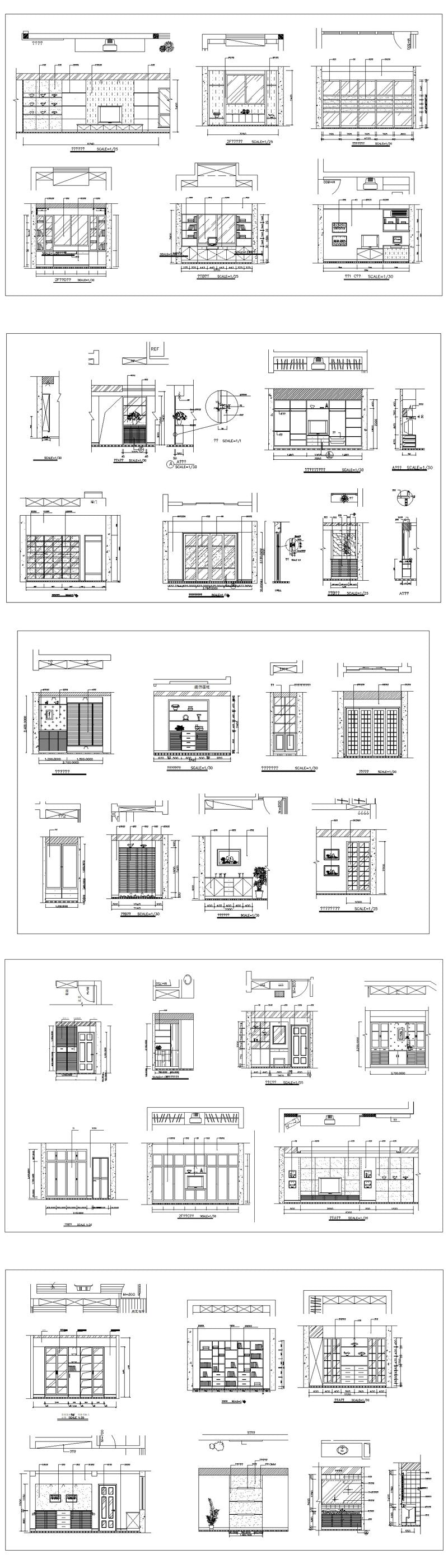 ★【Interior Design CAD Design,Details,Elevation Collection】Residential Building,Layout,Lobby,Room design,Decoration@Autocad Blocks,Drawings,CAD Details,Elevation