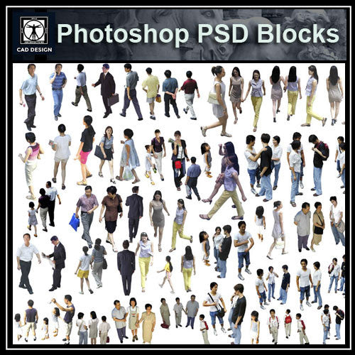 Photoshop PSD People Blocks 1 - CAD Design | Download CAD Drawings | AutoCAD Blocks | AutoCAD Symbols | CAD Drawings | Architecture Details│Landscape Details | See more about AutoCAD, Cad Drawing and Architecture Details