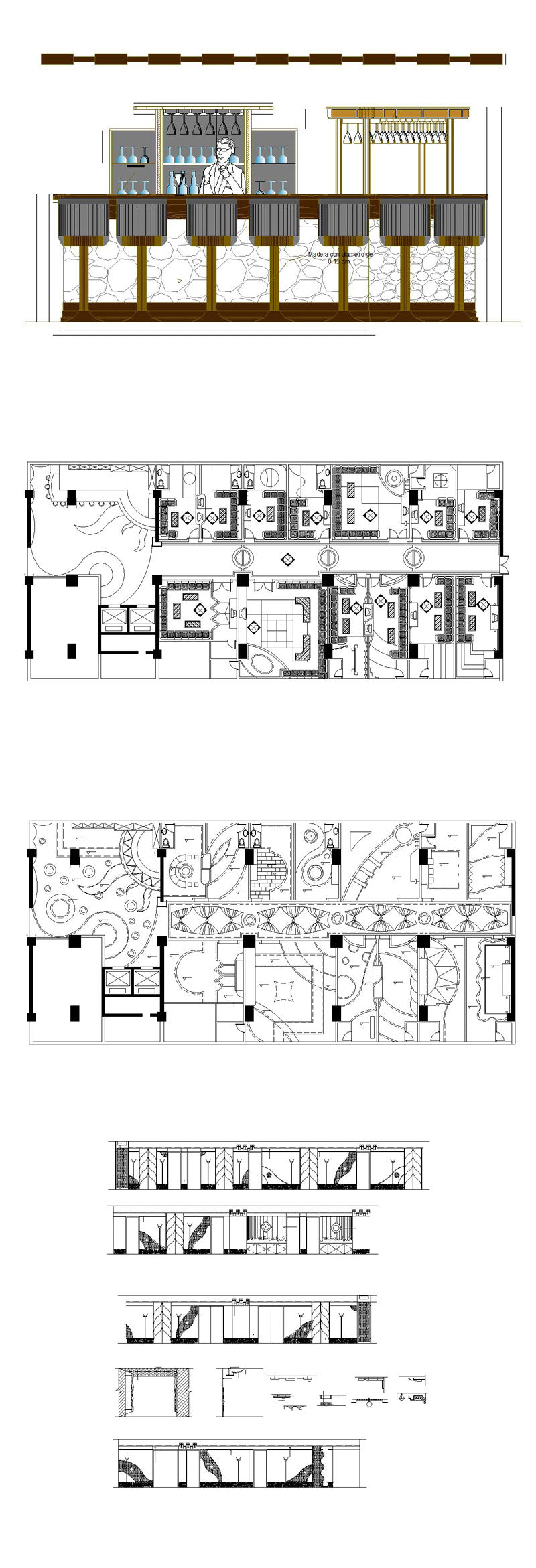 ★【Pub,Bar,Restaurant CAD Design Drawings V.1】@Pub,Bar,Restaurant,Store design-Autocad Blocks,Drawings,CAD Details,Elevation