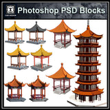 Photoshop PSD Chinese Pavilion 2