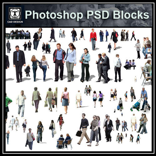 Photoshop PSD People Blocks 3 - CAD Design | Download CAD Drawings | AutoCAD Blocks | AutoCAD Symbols | CAD Drawings | Architecture Details│Landscape Details | See more about AutoCAD, Cad Drawing and Architecture Details