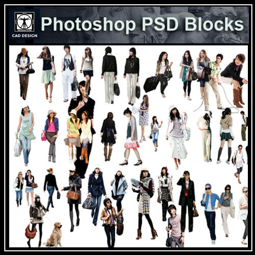 Photoshop PSD People Blocks 4 - CAD Design | Download CAD Drawings | AutoCAD Blocks | AutoCAD Symbols | CAD Drawings | Architecture Details│Landscape Details | See more about AutoCAD, Cad Drawing and Architecture Details