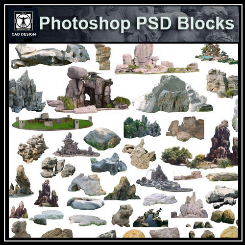 Photoshop PSD Landscape Stone 3 - CAD Design | Download CAD Drawings | AutoCAD Blocks | AutoCAD Symbols | CAD Drawings | Architecture Details│Landscape Details | See more about AutoCAD, Cad Drawing and Architecture Details