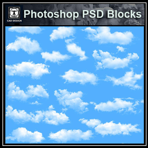 Free Photoshop PSD Cloud Blocks 2
