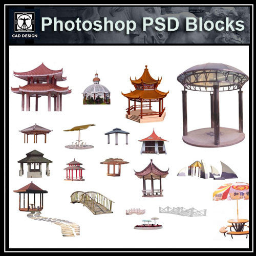 Photoshop PSD Landscape Pavilion 3 - CAD Design | Download CAD Drawings | AutoCAD Blocks | AutoCAD Symbols | CAD Drawings | Architecture Details│Landscape Details | See more about AutoCAD, Cad Drawing and Architecture Details
