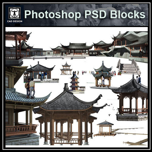 Photoshop PSD Chinese Pavilion 4 - CAD Design | Download CAD Drawings | AutoCAD Blocks | AutoCAD Symbols | CAD Drawings | Architecture Details│Landscape Details | See more about AutoCAD, Cad Drawing and Architecture Details