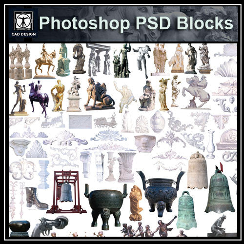 Photoshop PSD Landscape Statue 1 - CAD Design | Download CAD Drawings | AutoCAD Blocks | AutoCAD Symbols | CAD Drawings | Architecture Details│Landscape Details | See more about AutoCAD, Cad Drawing and Architecture Details