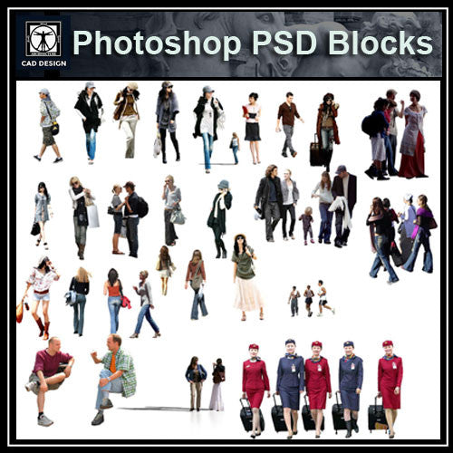 Photoshop PSD People Blocks 5 - CAD Design | Download CAD Drawings | AutoCAD Blocks | AutoCAD Symbols | CAD Drawings | Architecture Details│Landscape Details | See more about AutoCAD, Cad Drawing and Architecture Details