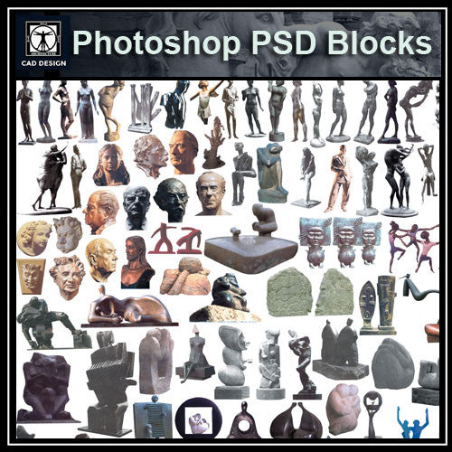 Photoshop PSD Landscape Statue 2 - CAD Design | Download CAD Drawings | AutoCAD Blocks | AutoCAD Symbols | CAD Drawings | Architecture Details│Landscape Details | See more about AutoCAD, Cad Drawing and Architecture Details