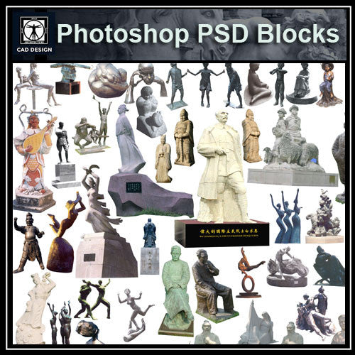 Photoshop PSD Landscape Statue 3 - CAD Design | Download CAD Drawings | AutoCAD Blocks | AutoCAD Symbols | CAD Drawings | Architecture Details│Landscape Details | See more about AutoCAD, Cad Drawing and Architecture Details