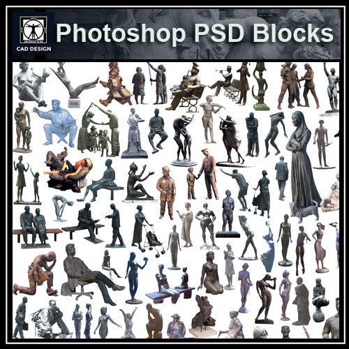 Photoshop PSD Landscape Statue 4 - CAD Design | Download CAD Drawings | AutoCAD Blocks | AutoCAD Symbols | CAD Drawings | Architecture Details│Landscape Details | See more about AutoCAD, Cad Drawing and Architecture Details
