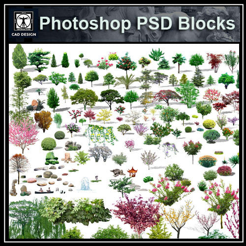 Photoshop PSD Landscape Tree 6 - CAD Design | Download CAD Drawings | AutoCAD Blocks | AutoCAD Symbols | CAD Drawings | Architecture Details│Landscape Details | See more about AutoCAD, Cad Drawing and Architecture Details