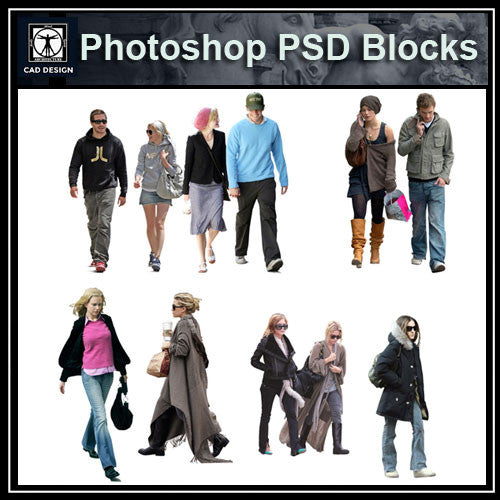 Photoshop PSD People Blocks 9 - CAD Design | Download CAD Drawings | AutoCAD Blocks | AutoCAD Symbols | CAD Drawings | Architecture Details│Landscape Details | See more about AutoCAD, Cad Drawing and Architecture Details
