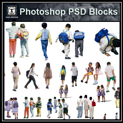 Photoshop PSD People Blocks 11 - CAD Design | Download CAD Drawings | AutoCAD Blocks | AutoCAD Symbols | CAD Drawings | Architecture Details│Landscape Details | See more about AutoCAD, Cad Drawing and Architecture Details