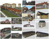 💎【Sketchup Architecture 3D Projects】15 Types of Commercial Street Design Sketchup Model V2 - CAD Design | Download CAD Drawings | AutoCAD Blocks | AutoCAD Symbols | CAD Drawings | Architecture Details│Landscape Details | See more about AutoCAD, Cad Drawing and Architecture Details