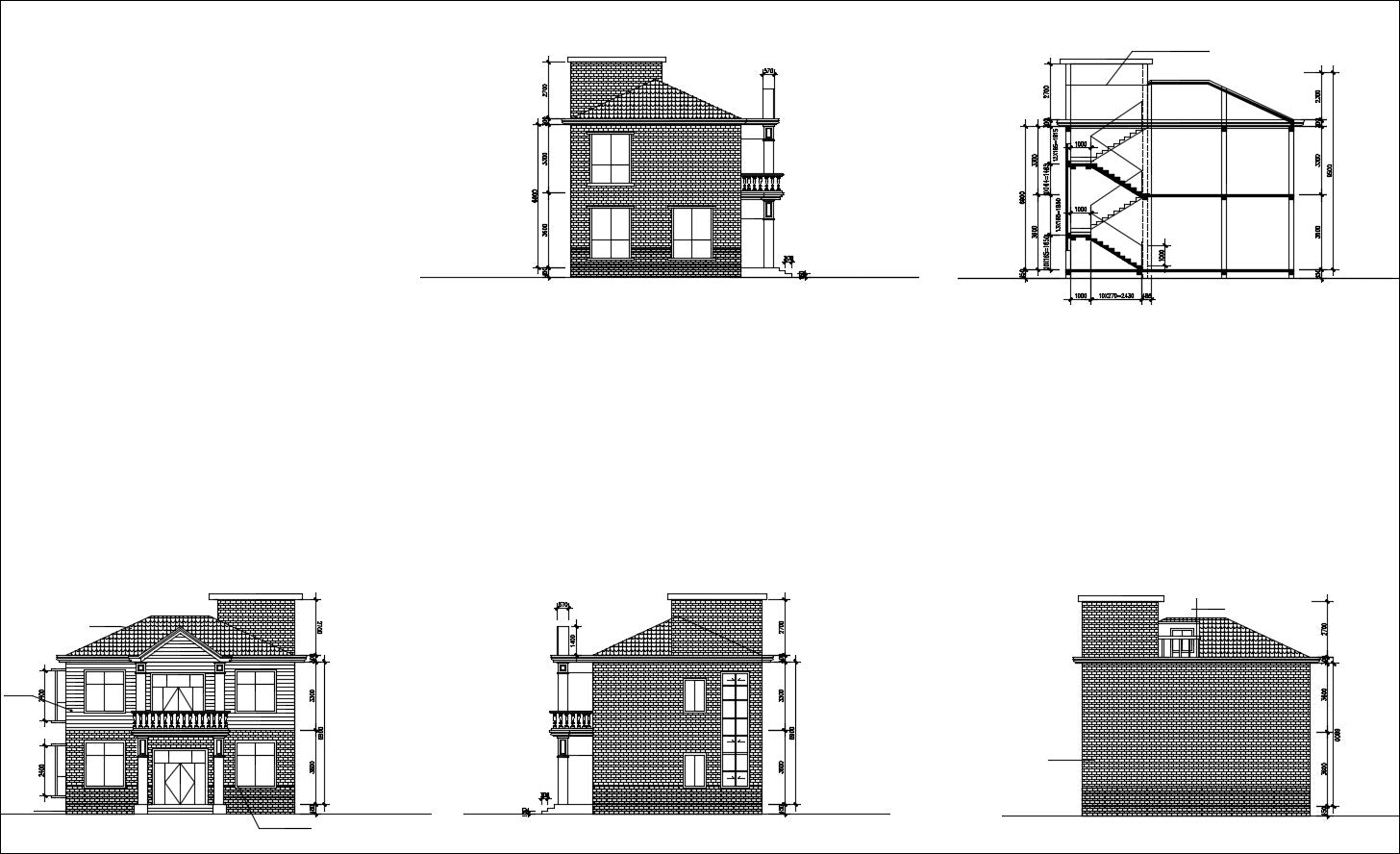 Villa Design CAD Drawings V1
